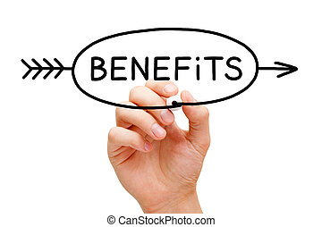 Benefits Arrow Concept