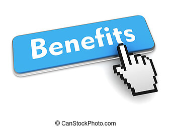 benefits button concept 3d illustration