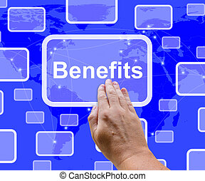 Benefits Button Showing Bonus Or Perks As Company Award -...