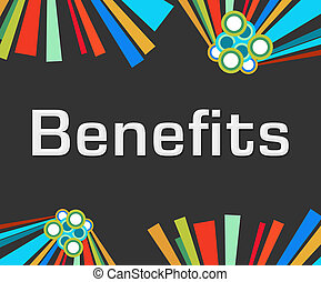 Benefits Dark Colorful Elements