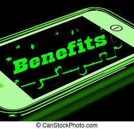 Benefits On Smartphone Showing Messages Bonus
