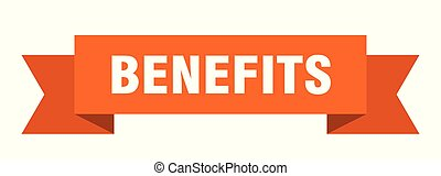 benefits ribbon. benefits isolated sign. benefits banner