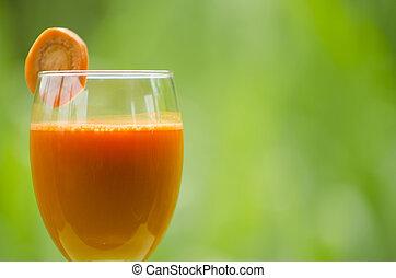 benefits., sap, wortel, gezondheid, drinkt, heeft