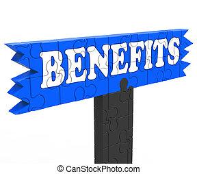 Benefits Shows Bonus Perks Or Rewards