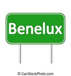 Benelux road sign.