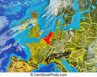 Benelux Union on Earth from space