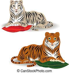 Bengal and Amur tiger