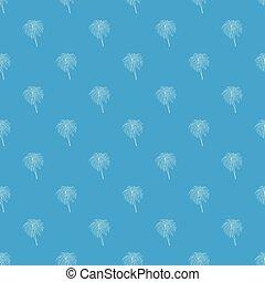 Bengal fire pattern vector seamless blue