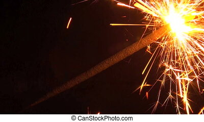 Bengal fire, sparkler