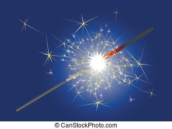Bengal light - Burning sparkler