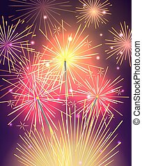 Bengal Light, Fire, Firework Sparkler Isolated