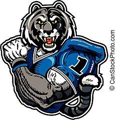 bengal tiger football player - muscular bengal tiger...