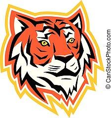 Bengal Tiger Head Mascot
