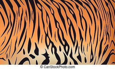 bengal tiger stripe pattern - Vector illustration of bengal...