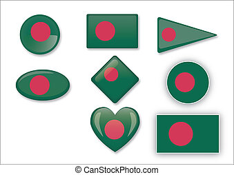 Bengladesh flag set
