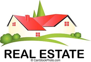 beni immobili, casa, logotipo