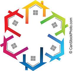 beni immobili, colorito, logotipo