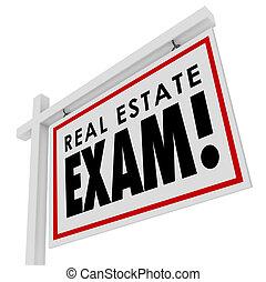 beni immobili, esame, licenza, studio, vendita, agente, s, passare, prova, casa, finale