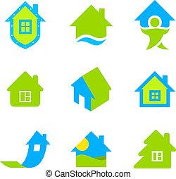beni immobili, logotipo, collezione