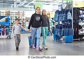 beni, shopping, famiglia, carrello, sport, negozio