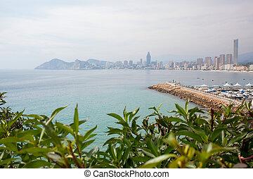 Benidorm is a coastal city in Alicante, Spain