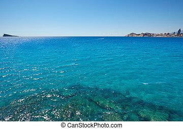 Benidorm island in Mediterranean Alicante of Spain