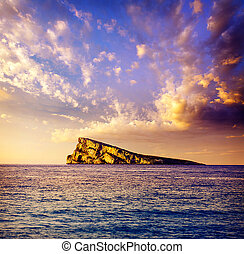 Benidorm, isola,  Alicante, Mediterraneo