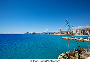 Benidorm Poniente beach in Alicante Spain - Benidorm...