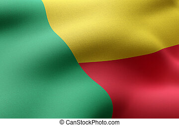 Benin 3d flag