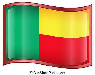 Benin Flag icon.