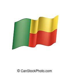 Benin flag, vector illustration