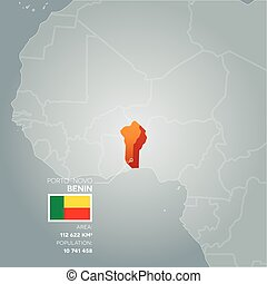 Benin information map.