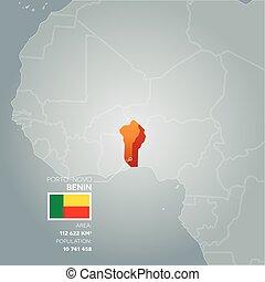 Benin information map.