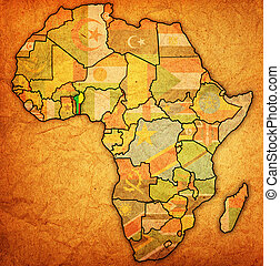 benin on actual map of africa