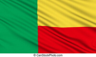 Beninese Flag, with real structure of a fabric