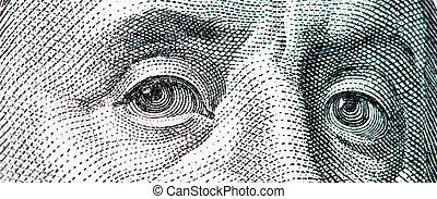 benjamin, $100, makro, banknote, dollar, franklin