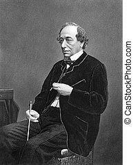 Benjamin Disraeli, 1st Earl of Beaconsfield (1804-1881) on...