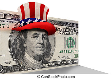 Benjamin Franklin ready to party.
