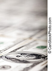 Benjamin Franklin Eye Macro - Macro shot of a 100 US$ money...