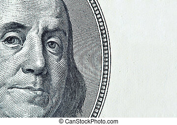 Benjamin Franklin portrait with added space for your own text