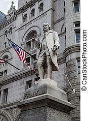 Benjamin Franklin Statue, Old Post Office Building,...