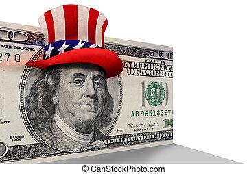 Benjamin Franklin. - Benjamin Franklin ready to party.