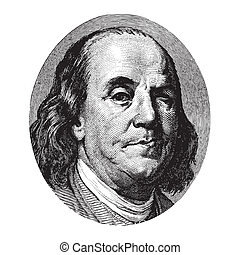 Benjamin Franklin winking portrait