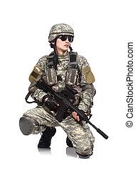 bennünket, karabély, katona