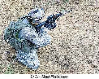 bennünket, katona, action