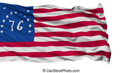 Bennington USA Isolated Waving Flag