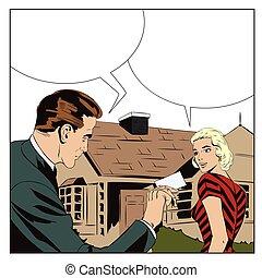 bens imóveis, casa, agente, sale., girl., aluguel, property.