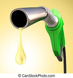 bensin, droppe