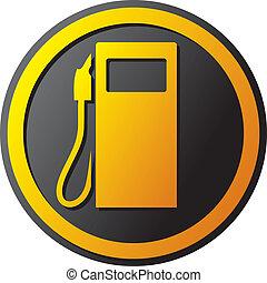 bensin förlagt, ikon