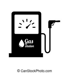 bensin pumpa, station, design, olja